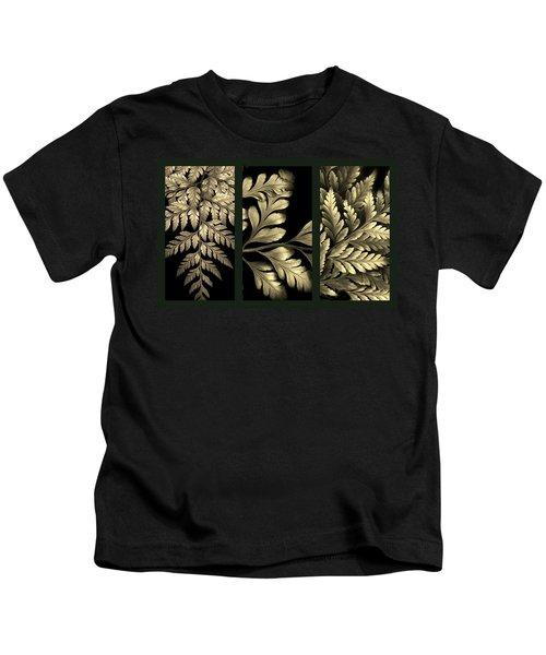 Gold Leaf Triptych Kids T-Shirt