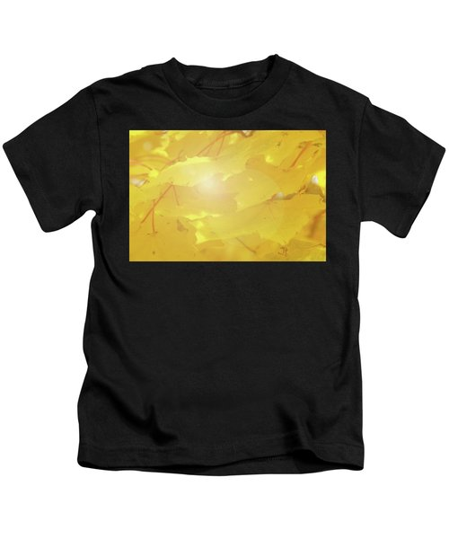 Golden Autumn Leaves Kids T-Shirt