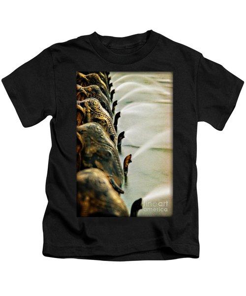 Golden Elephant Fountain Kids T-Shirt