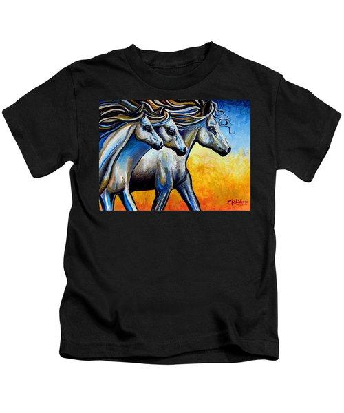 Golden Embers Kids T-Shirt