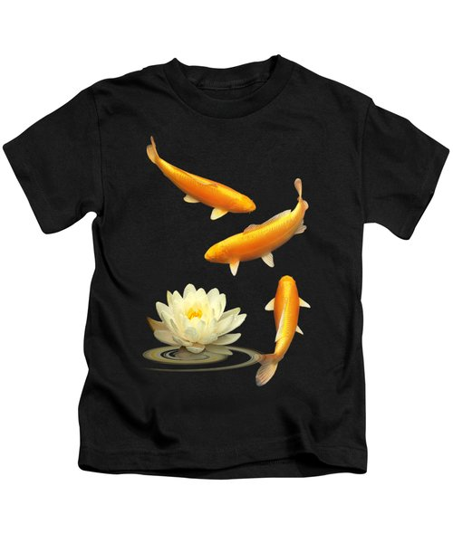 Golden Harmony Vertical Kids T-Shirt