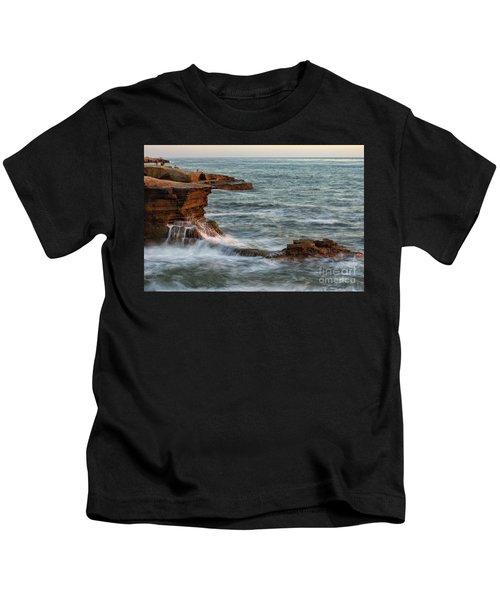 Golden Hour At Sunset Cliffs Kids T-Shirt