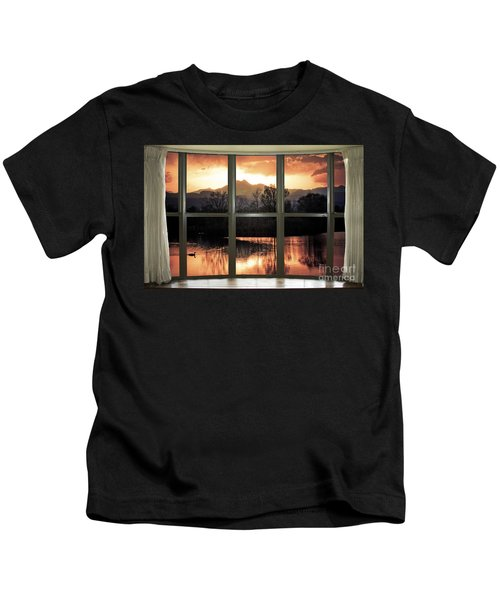 Golden Ponds Bay Window View Kids T-Shirt