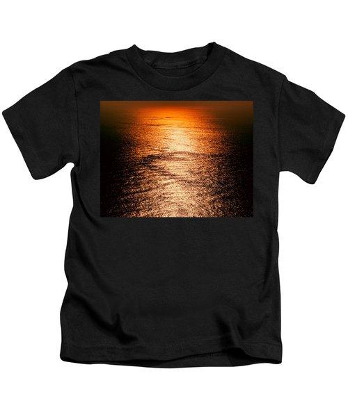 Golden Sea In Alanya Kids T-Shirt
