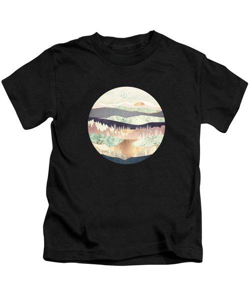 Golden Spring Reflection Kids T-Shirt