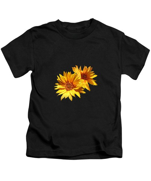 Golden Sunflowers Kids T-Shirt