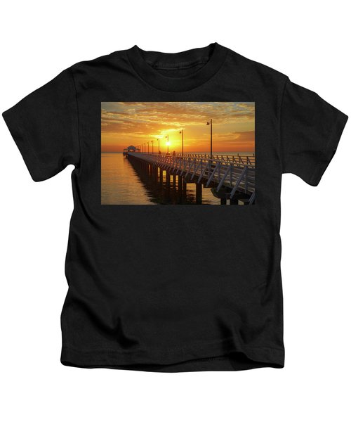 Golden Sunrise Down By The Bay Kids T-Shirt