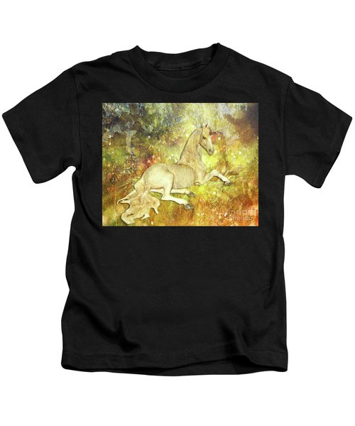 Golden Unicorn Dreams Kids T-Shirt