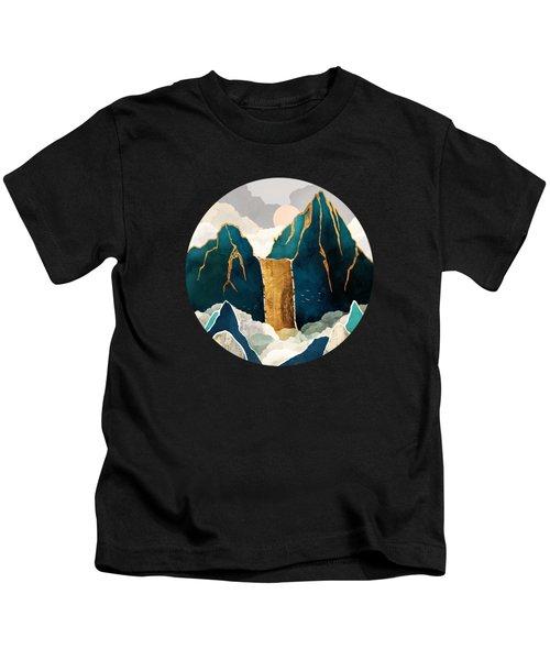 Golden Waterfall Kids T-Shirt