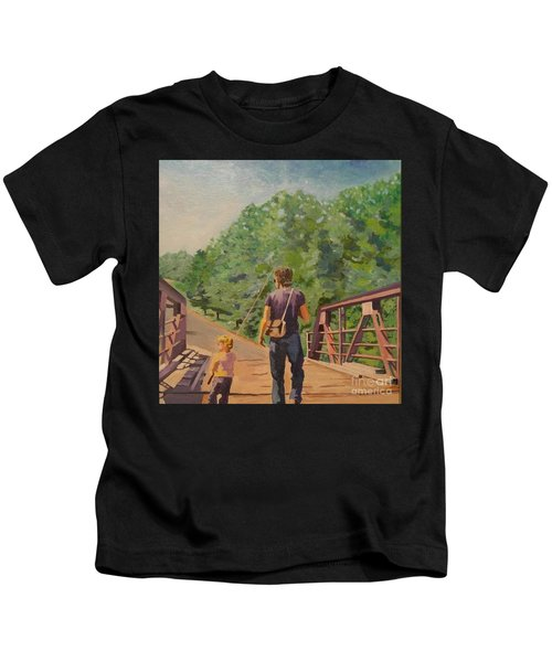 Gone Fishing With Dad Kids T-Shirt