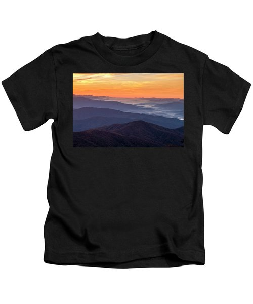 Good Morning Clingmans Dome In The Smokies Kids T-Shirt