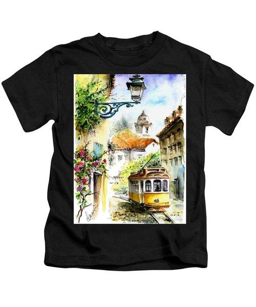 Graca Lisbon Tram Color Kids T-Shirt