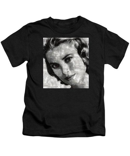 Grace Kelly Kids T-Shirt by Mary Bassett