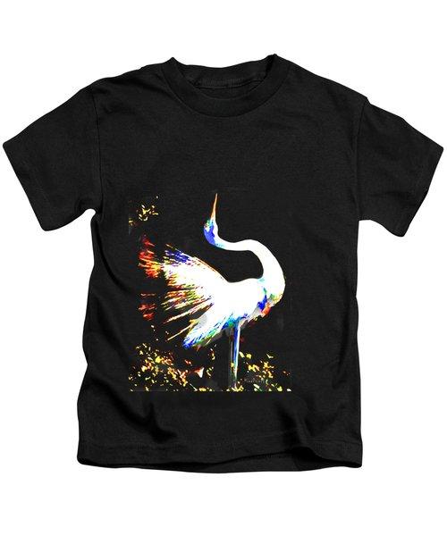 Grace Of Egret Kids T-Shirt