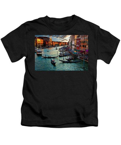Grand Canal Sunset Kids T-Shirt