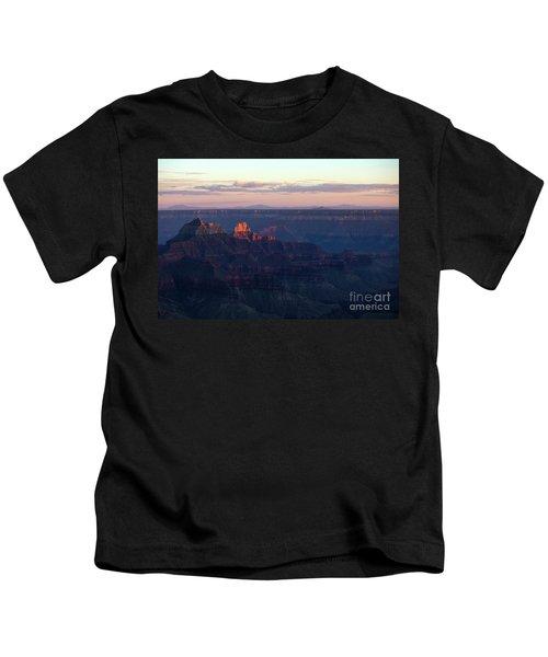 Grand Canyon North Rim At Sunset Kids T-Shirt