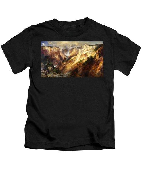 Grand Canyon Of The Yellowstone Kids T-Shirt