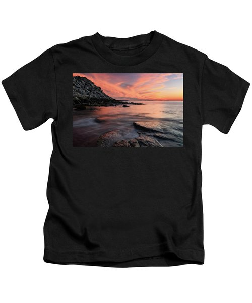 Granite Sunset Rockport Ma. Kids T-Shirt