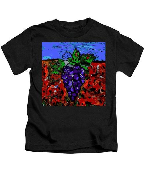 Grape Jazz Digital Kids T-Shirt