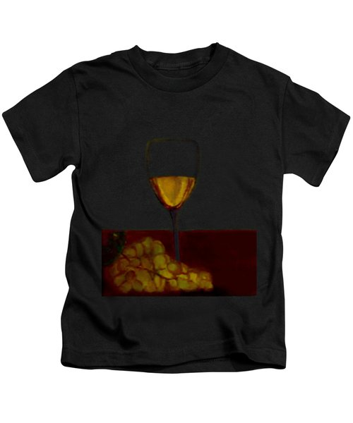 Grapes With Wine Kids T-Shirt
