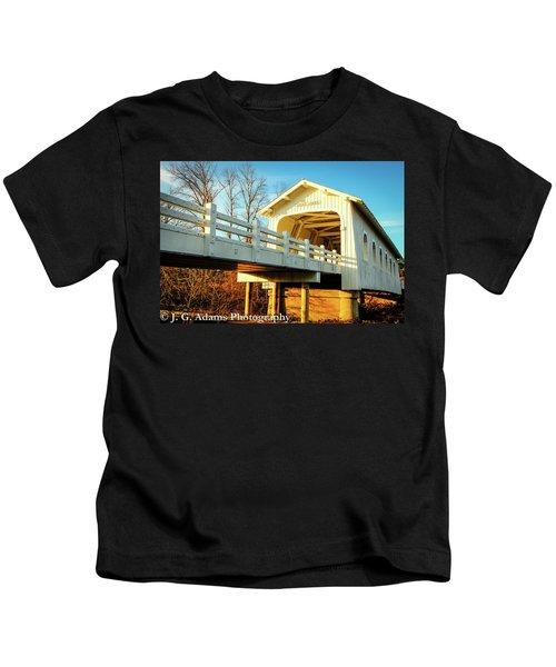 Grave Creek Covered Bridge Kids T-Shirt