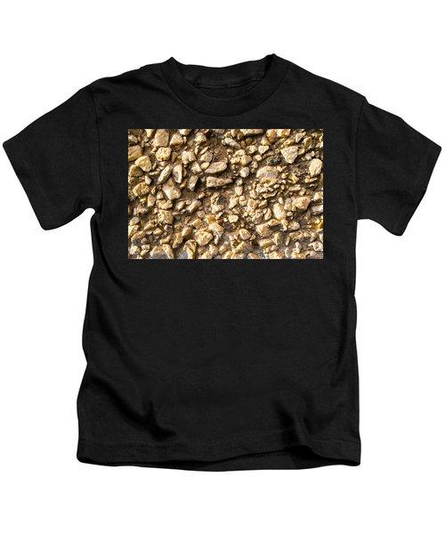 Gravel Stones On A Wall Kids T-Shirt
