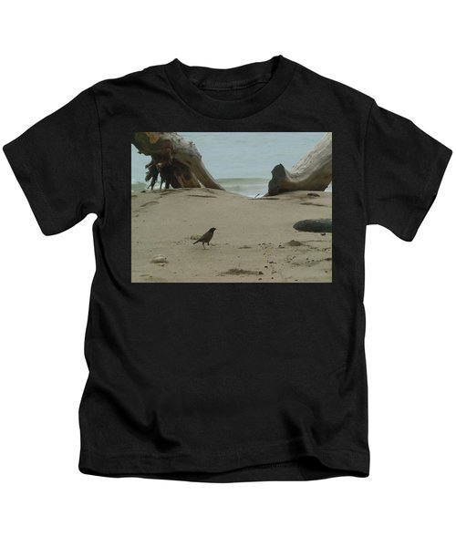 Gray Day On Maui Kids T-Shirt