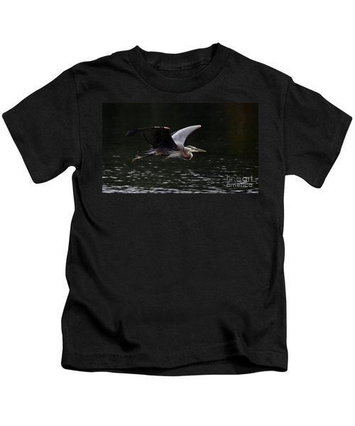 Graceful Great Blue Heron  Kids T-Shirt