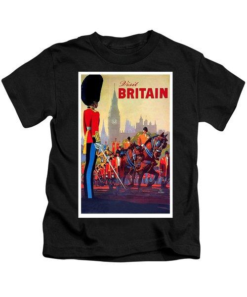 Great Britain, Royal Parade, Travel Poster Kids T-Shirt