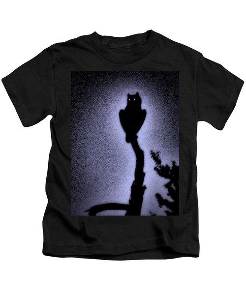 Great Horned Owl In The Desert 4 Kids T-Shirt