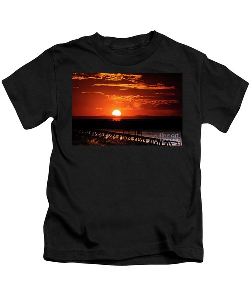 Great Salt Lake Sunset Kids T-Shirt
