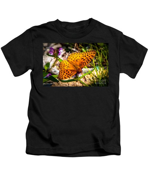 Great Spangled Fritillary Butterfly Kids T-Shirt