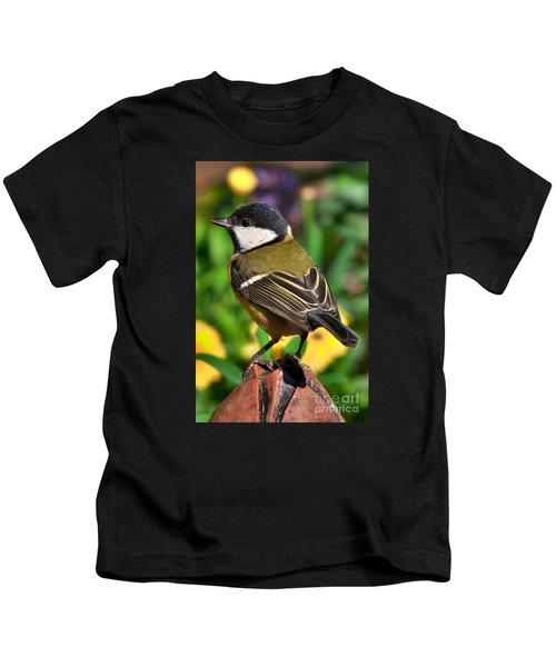 Great Tit British Bird Parus Major Kids T-Shirt