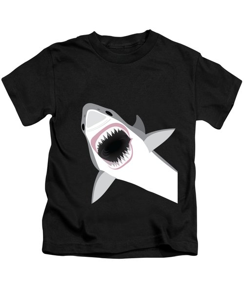 Great White Shark Kids T-Shirt by Antique Images