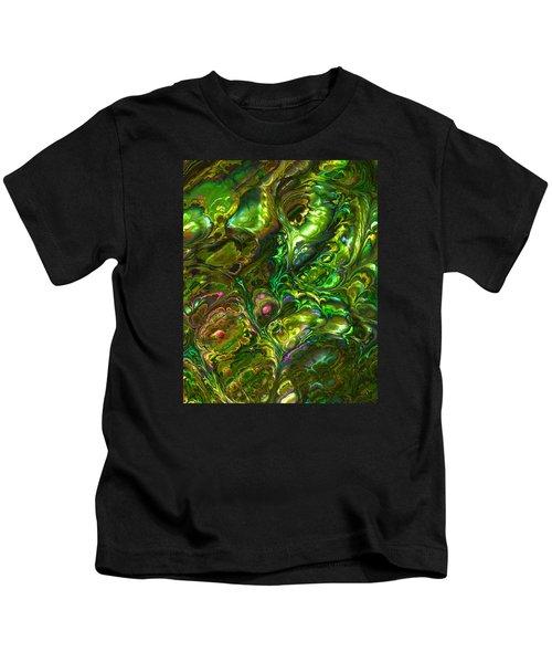 Green Abalone Abstract Kids T-Shirt