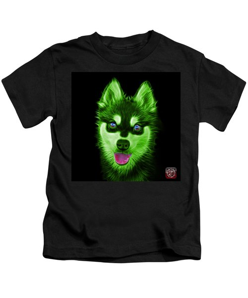 Green Alaskan Klee Kai - 6029 -bb Kids T-Shirt
