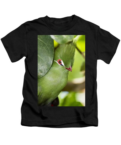 Green Turaco Bird Portrait Kids T-Shirt