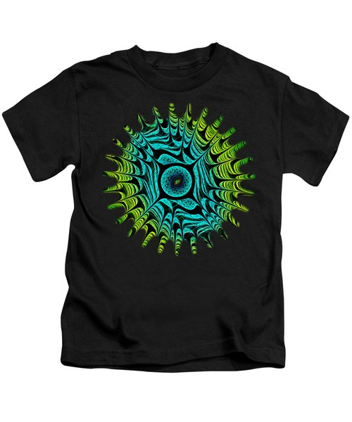 Green Dragon Eye Kids T-Shirt
