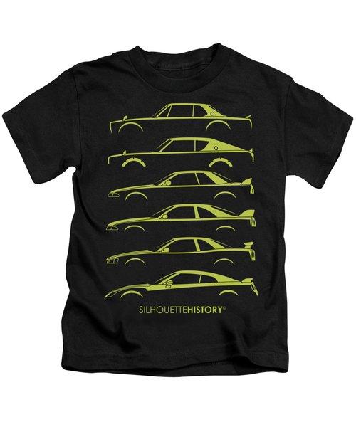 Green Geeteearu Silhouettehistory Kids T-Shirt