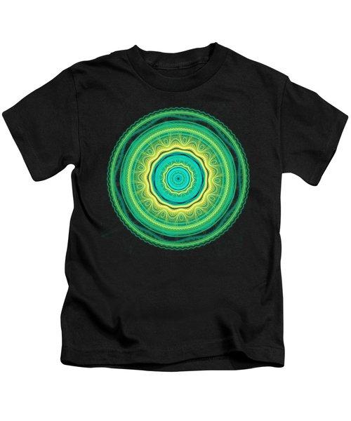 Green Mandala Kids T-Shirt