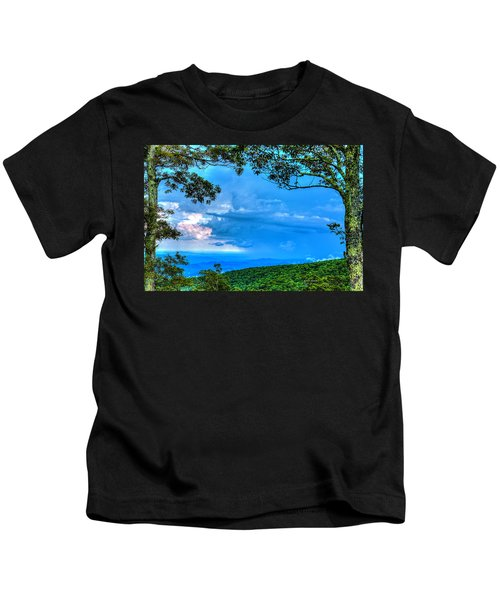 Green Mountain Storm Kids T-Shirt
