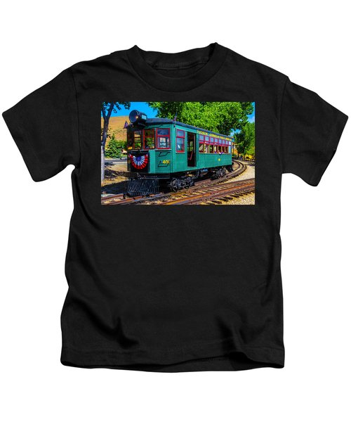Green Tucson Cornelia And Gila Bend R R Kids T-Shirt