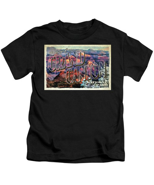 Greetings From Grand Canyon National Park Kids T-Shirt