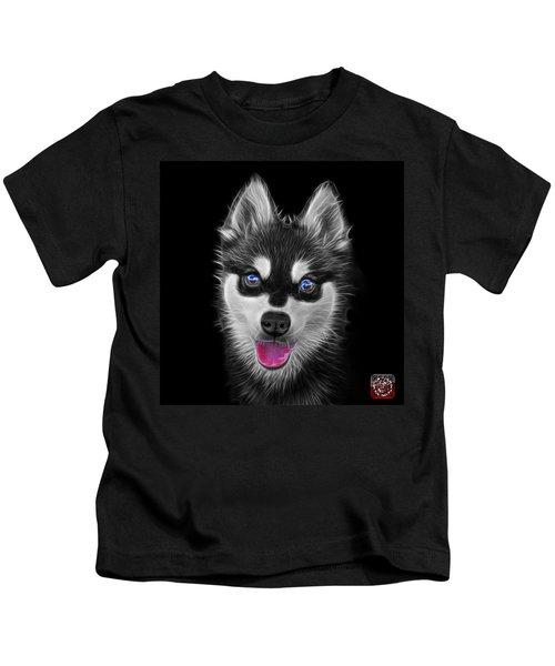 Greyscale Alaskan Klee Kai - 6029 -bb Kids T-Shirt