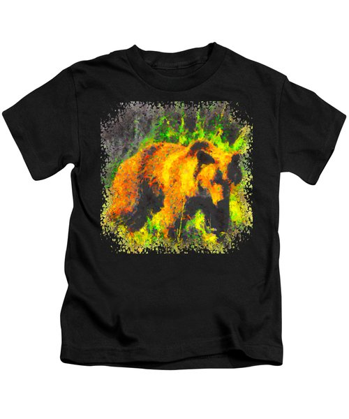 Grizzly In Field Kids T-Shirt