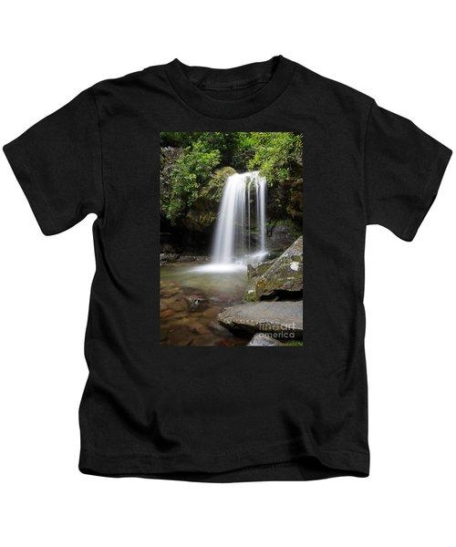 Grotto Falls Vertical Kids T-Shirt