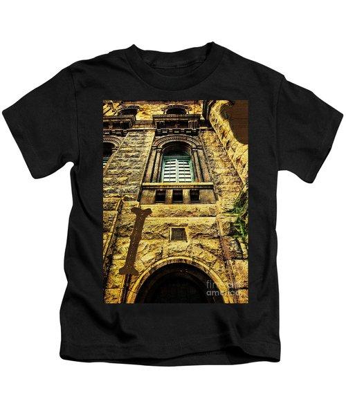 Grungy Melbourne Australia Alphabet Series Letter I Royal Melbou Kids T-Shirt