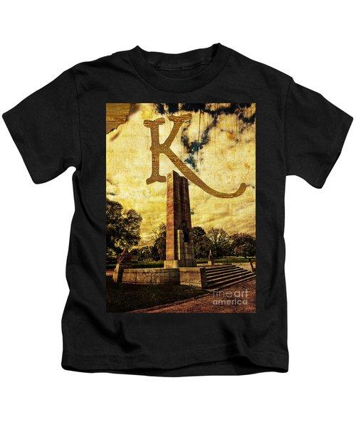 Grungy Melbourne Australia Alphabet Series Letter K Kings Domain Kids T-Shirt