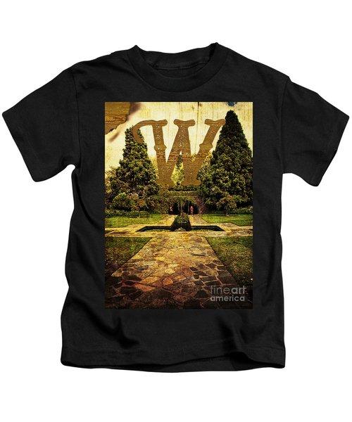Grungy Melbourne Australia Alphabet Series Letter W Pioneer Wome Kids T-Shirt