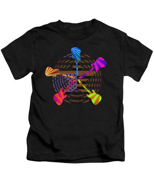 Guitars Stars And Stripes  Kids T-Shirt